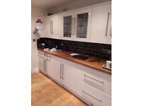 Cream Gloss kitchen - Howdens