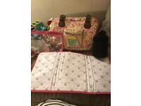 Pink linings Yummy Mummy Floral Changing Bag EXCELLENT