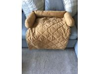 New medium dog sofa cushion in a brown tan colour