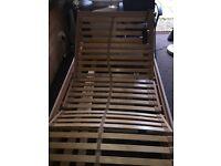 Single, motorised adjustable bed frame