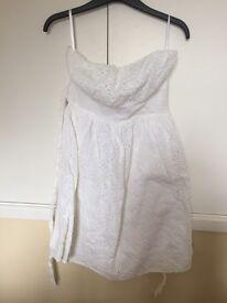 White summer dress size 10
