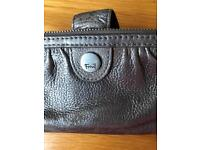 Fossil silver leather purse