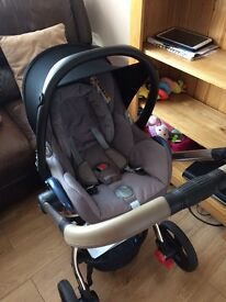 Mothercare orb pram and maxi cost car seat
