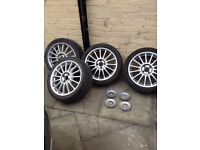 MG ZR ALLOYS WHEELS WITH TYRES