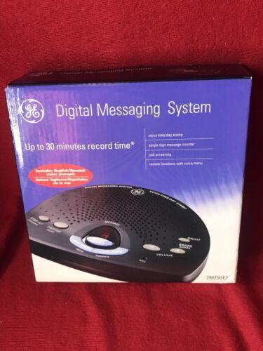 GE Digital Answering System Phone Message Machine 29875GE2-B