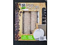 Box of 150 Cafe Express Insulated Hot Cups and Sip Lids 10 oz / 295 ml