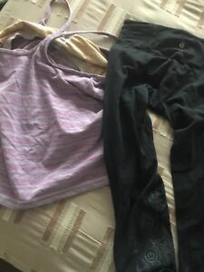 Lululemon crops s6 and tops s8