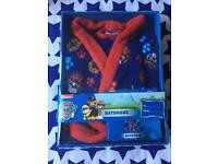 Paw patrol dressing gown 2-3 yrs new in box