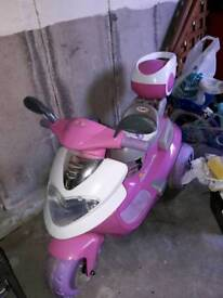 Girls electric ride on