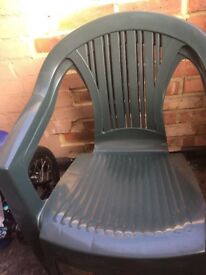 Plastic chairs green