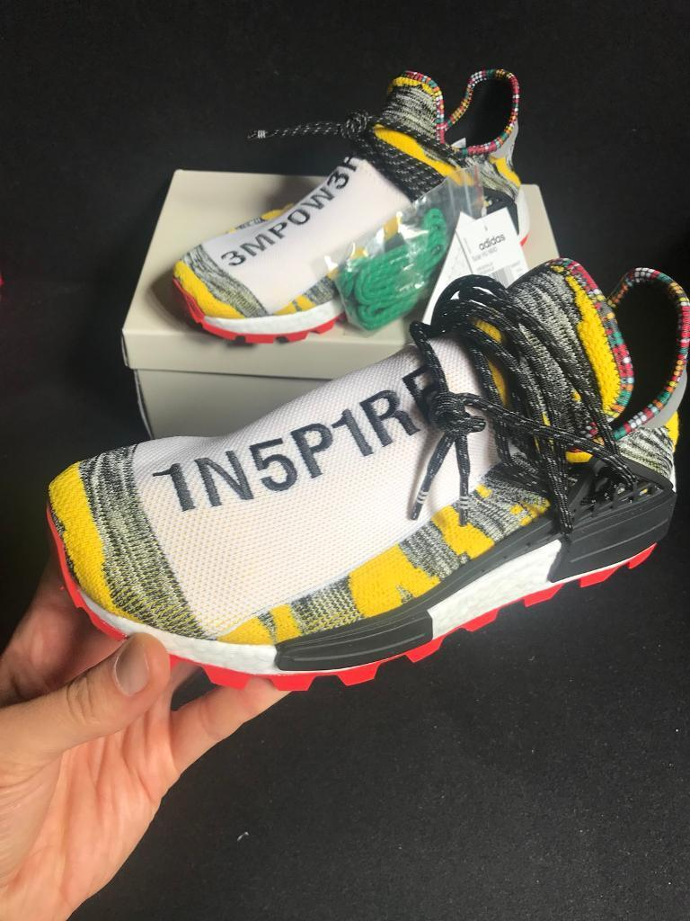 156be267216 Adidas Originals By Pharrell Williams Solarhu NMD Black And Yellow. Size  10.5 Uk
