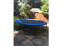 10 ft trampoline - good quality sturdy framed and fun for all