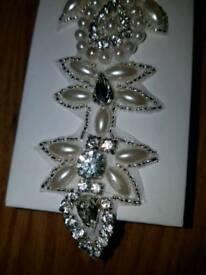 Wedding diamonte/pearl belt