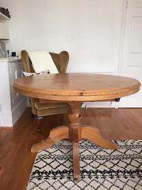 ***Price Lowered Gorgeous and sturdy pine dining table