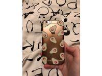 iPhone 6S Transparent Avocado Rubber Case