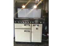 Rangemaster elan 90 dual fuel cooker with hood in perfect working order