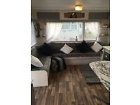 mordern newly refurbished 6 berth carvan in trecco bay for rent