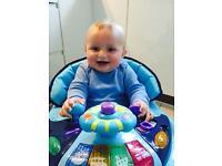 Kiddu Harley Rocker Baby Walker (Blue, 6 Months)
