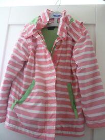 Mini Boden girls pink Stripped jacket