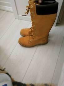 Timberland boots knee high