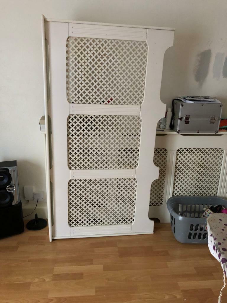 White double radiator cover