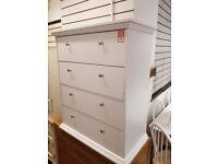 kensington 4 drawer chest white