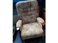 Two fireside high back chairs, by JC & MP Smith Ltd. Excellent condition.
