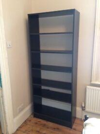 Simple and elegant black bookshelf