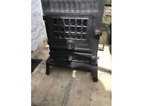 Coalbrookdale Much Wenlock solid fuel stove with boiler. Very heavy- collection only.