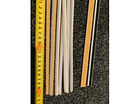 9 x 221cms of self adhesive intumescent strips for fire doors and smoke seals
