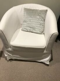Cream ikea tub chair. Excellent condition. Washable covers