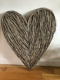 Wicker love heart