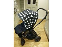 Fab Mamas and Papas Sola Pushchair with raincover and changing bag