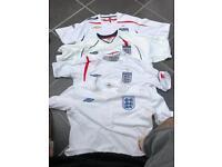 England football shirts