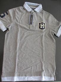 Brand New Tommy Hilfiger Grey Polo Shirt - Size M