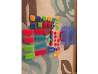 Bristle blocks (stickle bricks) set with case