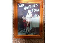 Vintage Advertising Van Houtens Cocoa Framed Print- In Good Condition