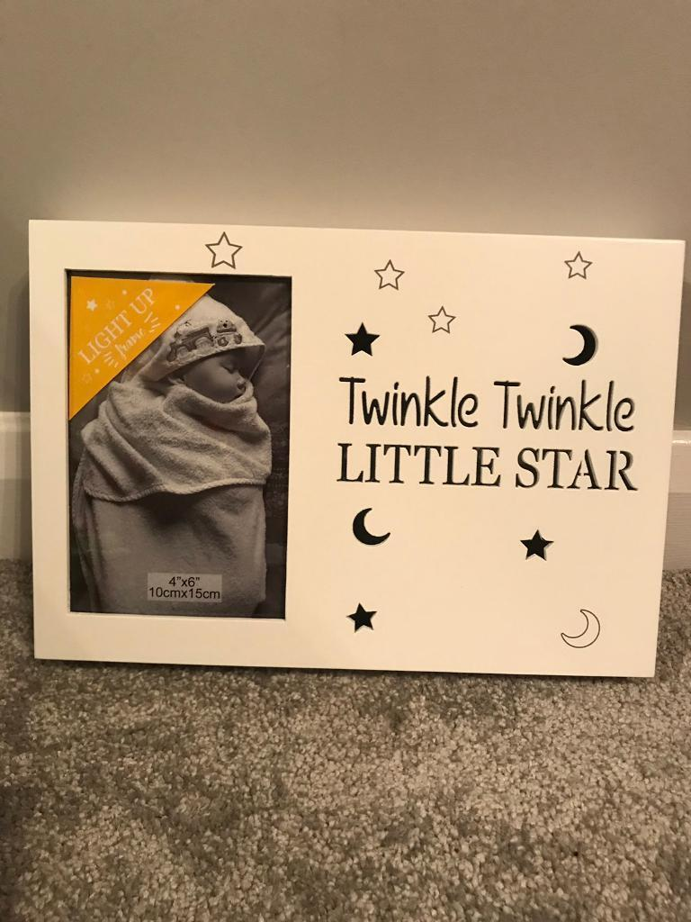 Twinkle Twinkle Little Star Light Up Baby Photo Frame 4x6 Baby Gift New