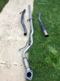 Astra mk4 complete exhaust system. Hornet race exhaust
