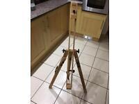 Winsor & newton wooden easel painter painting canvas tripod art artist