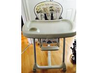 Mamas & Papas foldable high chair with wheels