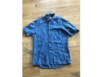 Hugo Boss Short Sleeved Shirt (blue)