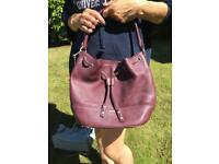 DKNY Handbag Leather Burgundy (Excellent Condition)