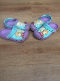Genuine frozen crocs size 10/11 ex condition girls kids