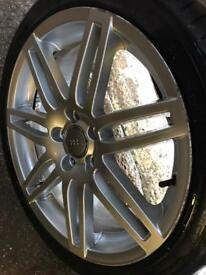 Audi RS4 alloy wheels 18inch genuine with tyres offers