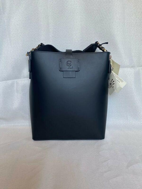 Celine Lefebure Black Faux Leather Shoulder Bag