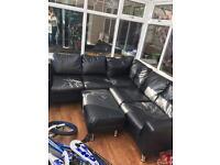 FREE black corner sofa