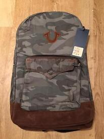 Brand new with tags authentic men's True Religion camouflage backpack. RRP £160