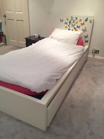 Single Bed with Mattress and 2 Storage Drawers - RRP £265