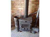 Evergreen Aldburgh multi fuel woodburner stove.